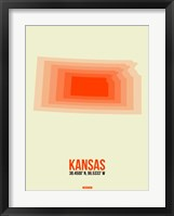 Framed Kansas Radiant Map 1