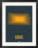 Framed Kansas Radiant Map 4
