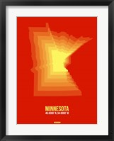 Framed Minnesota Radiant Map 2
