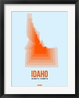 Framed Idaho Radiant Map 1