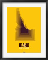 Framed Idaho Radiant Map 3