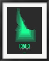 Framed Idaho Radiant Map 5