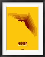 Framed Florida Radiant Map 3