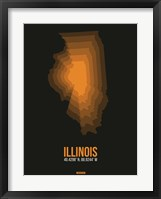 Framed Illinois Radiant Map 5