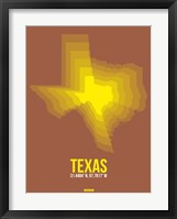 Framed Texas Radiant Map 2