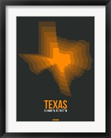 Framed Texas Radiant Map 5