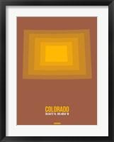 Framed Colorado Radiant Map 1