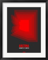 Framed Arizona Radiant Map 4B