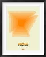 Framed Arkansas Radiant Map 1