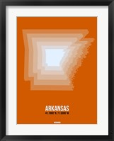 Framed Arkansas Radiant Map 3