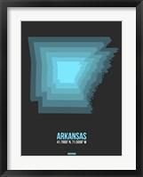 Framed Arkansas Radiant Map 4
