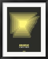 Framed Arkansas Radiant Map 5