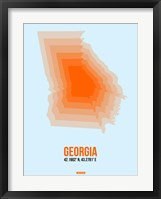 Framed Georgia Radiant Map 1