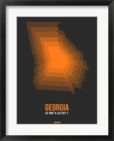 Framed Georgia Radiant Map 5