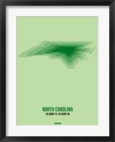 Framed North Carolina Radiant Map 2