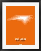 Framed North Carolina Radiant Map 3