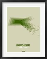 Framed Massachusetts Radiant Map 3