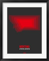 Framed Montana Radiant Map 6