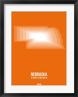 Framed Nebraska Radiant Map 2