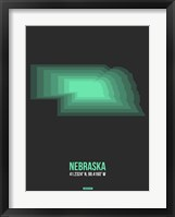 Framed Nebraska Radiant Map 4