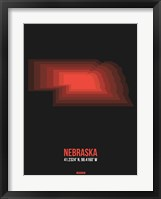 Framed Nebraska Radiant Map 6