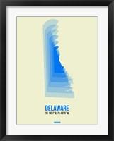 Framed Delaware Radiant Map 1