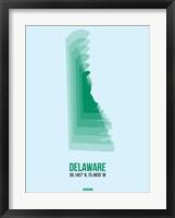 Framed Delaware Radiant Map 2