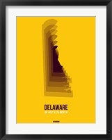 Framed Delaware Radiant Map 3