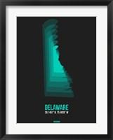 Framed Delaware Radiant Map 5