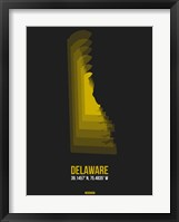 Framed Delaware Radiant Map 6