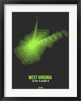 Framed West Virginia Radiant Map 4