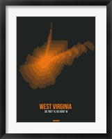 Framed West Virginia Radiant Map 5