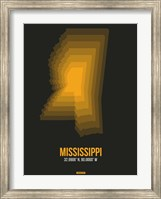 Framed Mississippi Radiant Map 5
