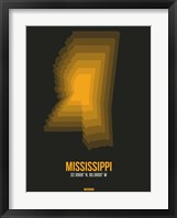 Framed Mississippi Radiant Map 5