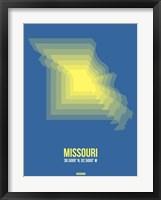 Framed Missouri Radiant Map 3