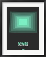 Framed Wyoming Radiant Map 4