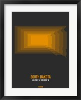 Framed South Dakota Radiant Map 6