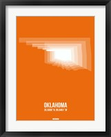 Framed Oklahoma Radiant Map 3