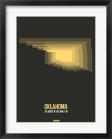 Framed Oklahoma Radiant Map 4