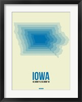 Framed Iowa Radiant Map 1