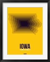 Framed Iowa Radiant Map 3