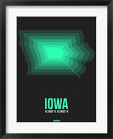 Framed Iowa Radiant Map 5