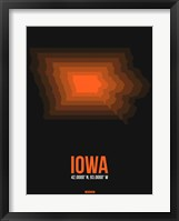 Framed Iowa Radiant Map 6