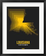 Framed Louisiana Radiant Map 5