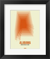 Framed Alabama Radiant Map 1