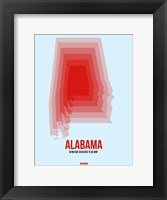 Framed Alabama Radiant Map 2