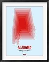 Framed Alabama Radiant Map 2