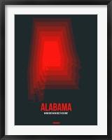 Framed Alabama Radiant Map 4
