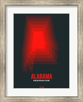 Framed Alabama Radiant Map 4