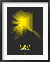 Framed Alaska Radiant Map 4